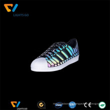 Popular iridescent reflective footwear material