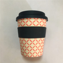 Wholesale Travel Bamboo Fiber Reusable Coffee Cups