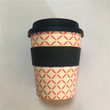 Wholesale Travel Bamboo Fiber Reusable Coffee Cups