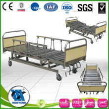 MDK-T200 Full Stainless steel medical bed 5 function manual hospital care bed