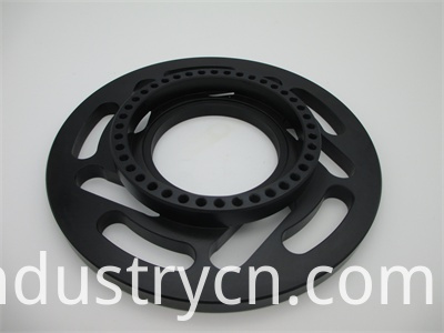 S55C Steel CNC Machining Parts with Partial Quenching and Black Oxide