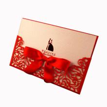 Impresión de tarjeta de invitación de boda hueco de papel personalizado