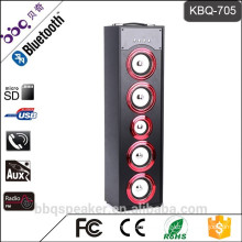 BBQ KBQ-705 45W potable tower surround speakers bluetooth with 6000 mAh build-in Battery FM radio