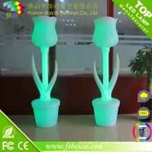 Vase à fleurs LED en plastique