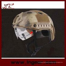 Casco táctico militar Pj de seguridad casco con visera clara para juego al aire libre