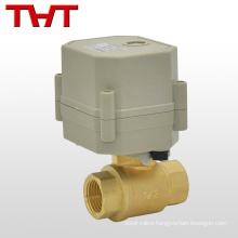 DC220V mini electric actuated ball valve