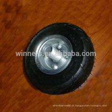 3.00-4 pequena roda de borracha pneumática com aro de roda de aço
