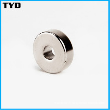 Ni-Cu-Ni Revêtement N50 Strong Ring NdFeB Magnet Permanent