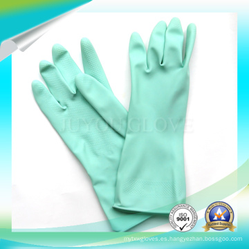 Anti ácido guantes de látex impermeables para trabajar