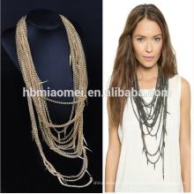 2017 Déclaration bijoux or rempli chaîne collier de perles de gland