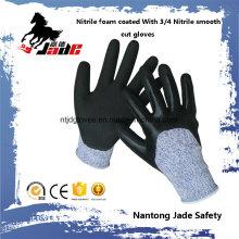 13G 3/4 Nitril-Sand-Finish mit Nitril-Glattbeschichteter Schnittschutz-Schutzhandschuh