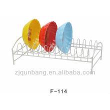 Plato de cocina de metal de cocina y titular plato impermeable