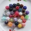 10-22MM Crystal Rhinestone Shamballa Diso Beads