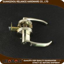 Exceptionnellement lisse opération précis levier solide action en alliage de zinc serrure de porte cylindrique