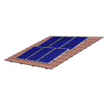 Suporte de metal para montagem em telhado de zinco solar