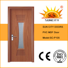 High Quality Interior Flush PVC Door (SC-P105)