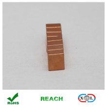 N52 copper coating block magnet for jewelry