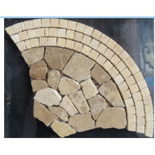 Fan Pattern Marble Stone Mosaic Floor Tile (HSM137)