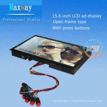15.6 дюймов открытой рамки цифровой signage для рекламы LCD