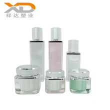 Customized Classic frosted square acrylic cosmetic spray pump bottle with cream jar 30ml 50ml 100ml