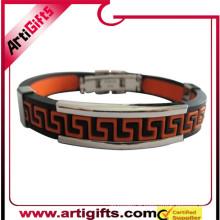 Meilleur prix moins cher logo design bracelet en métal