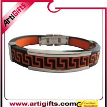 Best price cheaper logo design metal bracelet