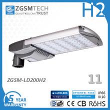 Réverbère du capteur LED de mouvement 200W pour la chaussée
