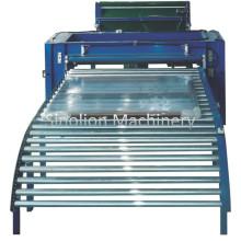 Machine horizontale de convoyeur de rouleau d'emballage