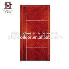 Populäre solide Holztür aus modernem Design, hergestellt aus Porzellan