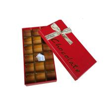 Caixa de presente de chocolate com carimbo de ouro de ponta