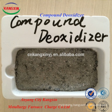 Compound deoxidizer easy for pouring steel slag