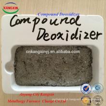 Desoxidante composto fácil para derramar escória de aço