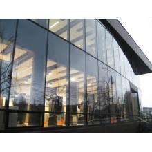 Mur à rideau isolant à double isolation en aluminium à efficacité énergétique