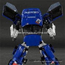 Brinquedo interno do Transfomer do campo de jogos do robô plástico azul do presente do Natal do ABS