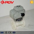 pvdf bride 20mm robinet à tournant sphérique en plastique