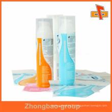 Waterproof custom private PET bottle transparent label guangzhou manufacturer