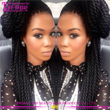 Hot Selling Human Hair Micro Braided Lace Front Wigs Cheap Braided Wigs For Black Women