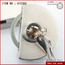 Stainless steel round lock with double door-one side