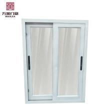 Ventana corredera de aluminio de doble vidrio / interior ciego ventana de vidrio doble / ventana de recepción de vidrio deslizante
