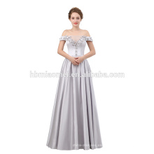 Vestido de noche formal de lujo de la longitud del piso fuera del hombro vestido de noche 2018