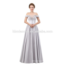 Luxury Formal Evening Gown floor length off shoulder evening dress 2018