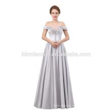 Роскошные формальное вечернее платье длина пола с плеча вечернее платье 2018