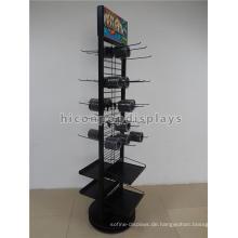 Fabrik Preis Floorstanding doppelseitigen Metall Haken hängenden Formwerkzeug Teile Display Regal