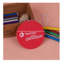 Promotional car air freshener with logo printed - circle