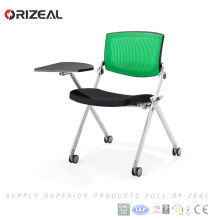 Orizeal Popular Ergonomic Swivel Movable Visitor Chair with Fabric Back(OZ-OCV008-3A)