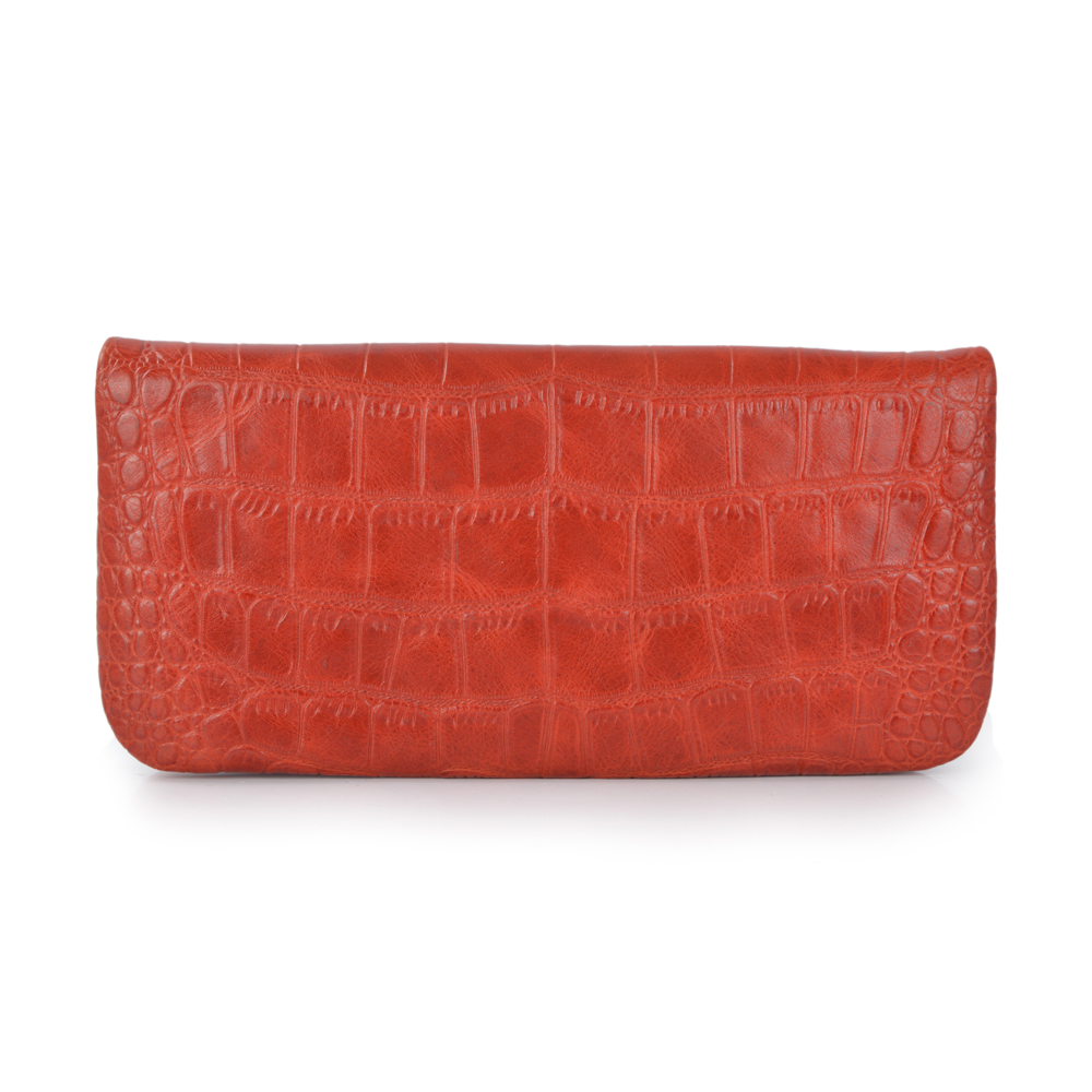 Zipper Purse Handbag Leather Women Clutch Bag