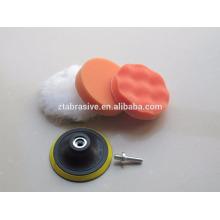 2x 3 '' Polimento De Limpeza Esponja Buffing Pad Kit De Espuma para Carro De Metalware Laranja