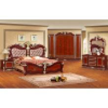Lit antique pour l'ensemble classique de meubles de chambre à coucher (W801)