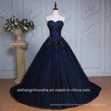 Luxus Applique Sweetheart Hals lange Abendkleid Prom