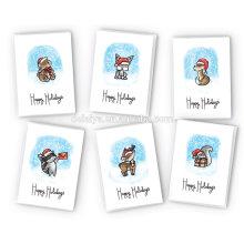Милые Животные Счастливых Праздников Коллекции Карт